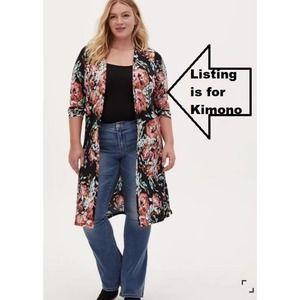 NEW Torrid Kimono Duster Lightwt. Jacket Topper